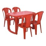 Plastic Chair & Table Set